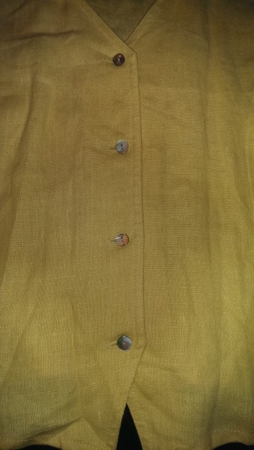 ORVIS Linen Button Down Shirt Buttercream yellow Image 2