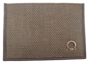Salvatore Ferragamo Men's Card Case Coated Fabric & Leather