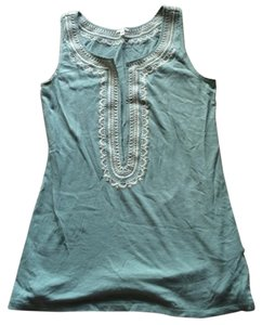 J.Crew Embroidered Top Green