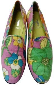 Hadleigh's Cashmere Print Flat Pink Floral Flats