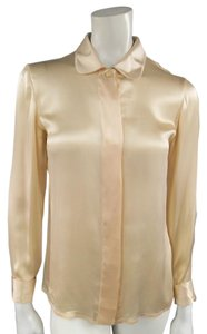 Versace Gianni Vintage Satin Top Peach