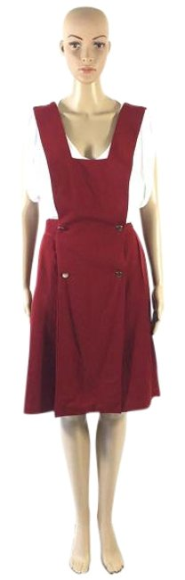 Preload https://img-static.tradesy.com/item/18917821/red-vintage-wool-pleated-overall-skirt-small-knee-length-short-casual-dress-size-4-s-0-1-650-650.jpg