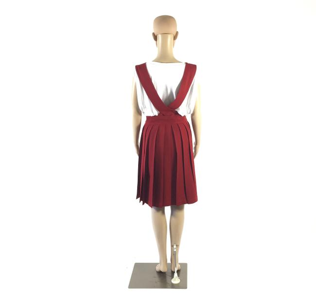 Other short dress Red Pleated Overall Skirt Small on Tradesy Image 1