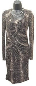 Kenneth Cole short dress brown Snakeskin Print on Tradesy