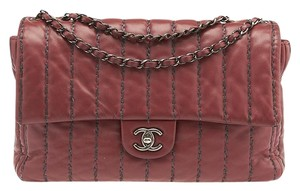 Chanel Vertical Quilted Lambskin Leather Shoulder Bag