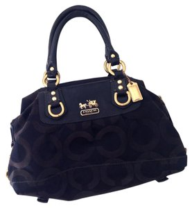 Coach Canvas Gold Hardware Satchel in black