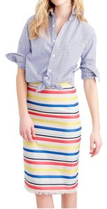J.Crew Brand Name Pencil Size 8 Nwt Skirt Multi-Color