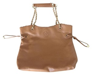 Tory Burch Chain Tote in Bark Brown