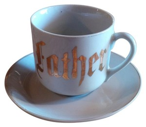 White & Gold Victorian Era ~ Father Cup Saucer Reception Decoration