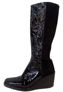 Donald J. Pliner Knee High Suede Plaform Black Boots