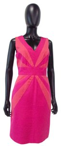 Julia Jordan short dress Hot Pink & Coral Sheath on Tradesy