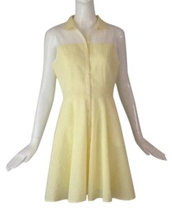 short dress Yellow/ white on Tradesy