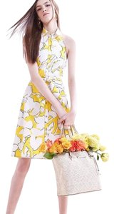 Diane von Furstenberg short dress Eden garden yellow on Tradesy