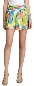 Alice + Olivia Silk Chiffin Floral Mini Skirt