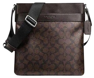Coach Hobo 36311 Satchel in Brown Black signature