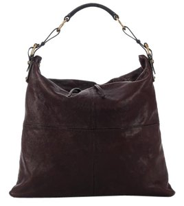 Céline Cl.g0626.01 Leather Brown Hobo Bag