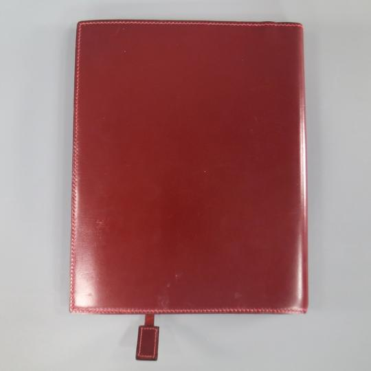 Hermès Vintage HERMES Burgundy Leather 'Adresses' Address Book Image 1