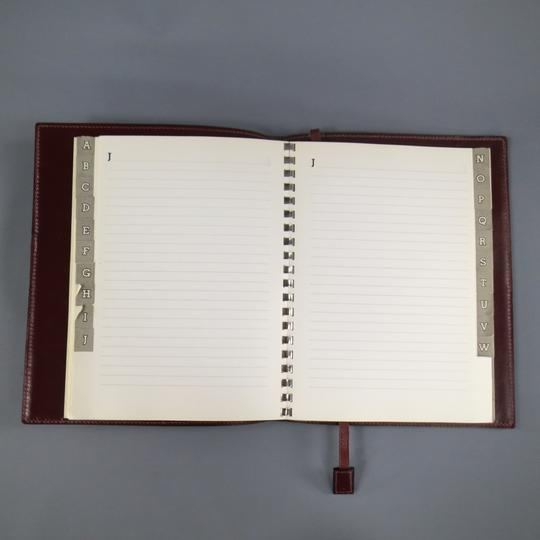 Hermès Vintage HERMES Burgundy Leather 'Adresses' Address Book Image 10