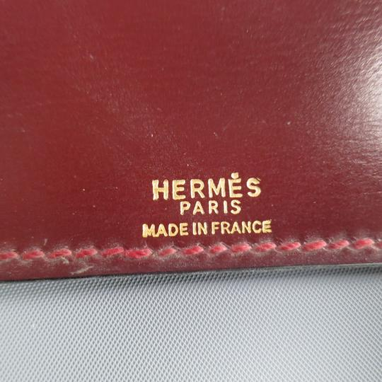 Hermès Vintage HERMES Burgundy Leather 'Adresses' Address Book Image 11