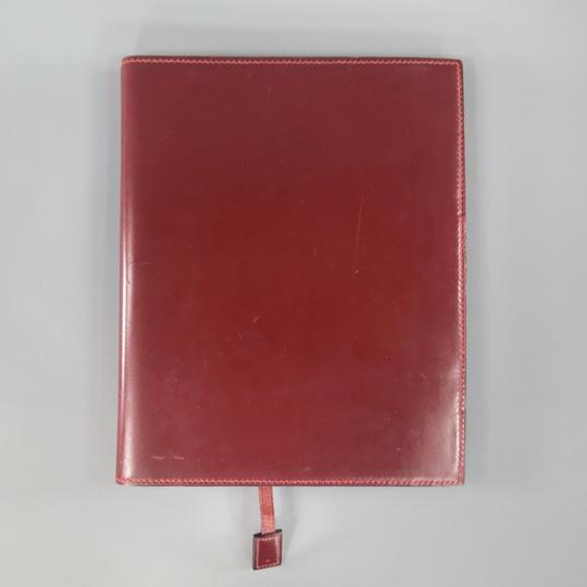Hermès Vintage HERMES Burgundy Leather 'Adresses' Address Book Image 2