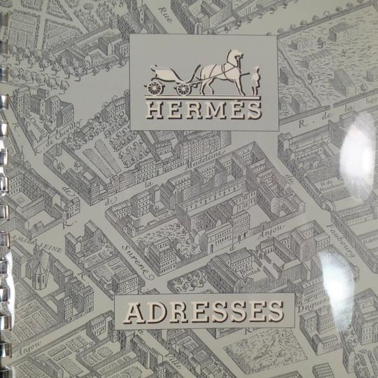 Hermès Vintage HERMES Burgundy Leather 'Adresses' Address Book Image 5