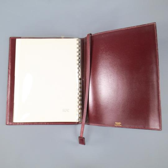 Hermès Vintage HERMES Burgundy Leather 'Adresses' Address Book Image 8