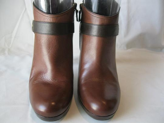 Cole Haan Leather Two Toned Brown Boots Image 1