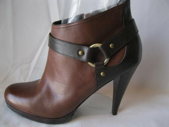 Cole Haan Leather Two Toned Brown Boots Image 4