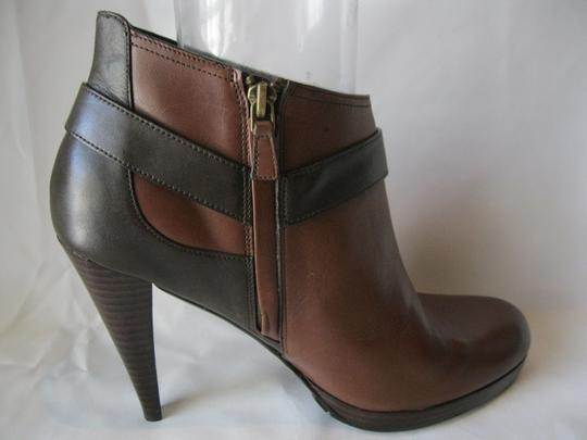 Cole Haan Leather Two Toned Brown Boots Image 5