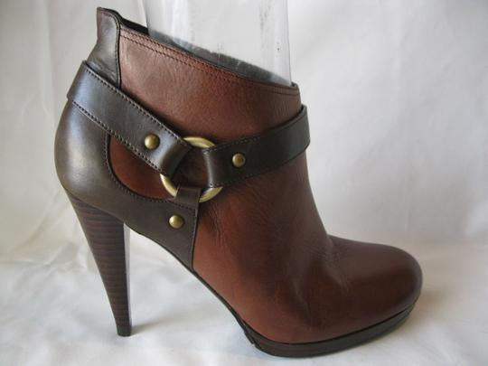 Cole Haan Leather Two Toned Brown Boots Image 7