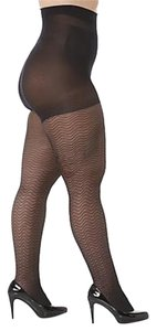 Curvation Curvation Women's Plus 4X Tummy Smoother Tights - Chevron