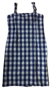 Dolce&Gabbana short dress Blue and white checkered Vintage on Tradesy