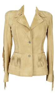 Dior Fringe Suede Christian Embroidered Shammy Jacket