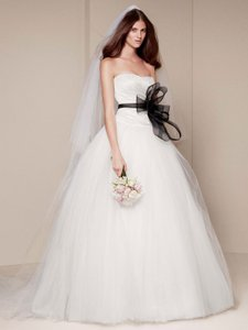 Vera Wang Bridal Strapless Tulle Ball Gown Wedding Dress