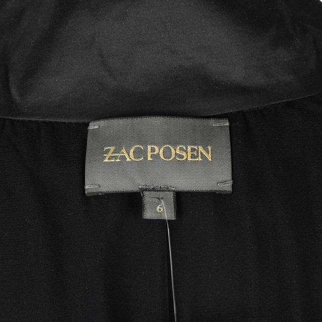 Zac Posen Rouched 6 Evening Button Down Shirt Black Image 10
