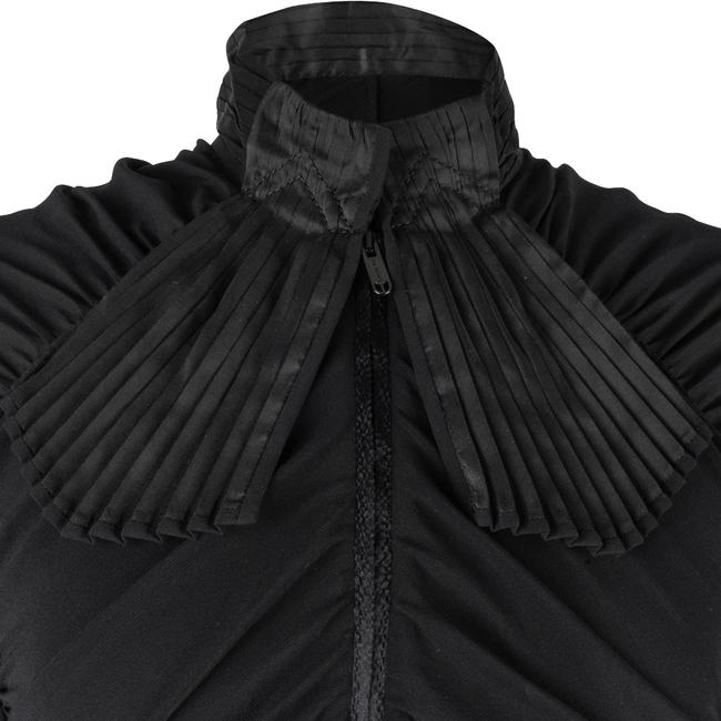 Zac Posen Rouched 6 Evening Button Down Shirt Black Image 5