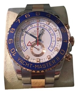 Rolex Yachtmaster II Stainless Steel/18K Rose Gold Watch w/ Box and Card