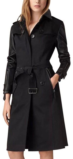 Preload https://img-static.tradesy.com/item/18920989/burberry-black-new-leather-trench-coat-size-6-s-0-5-650-650.jpg
