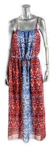 Blue/Red Print Maxi Dress by Vince Camuto