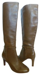 Elie Tahari Knee High Tall Leather Brown Boots
