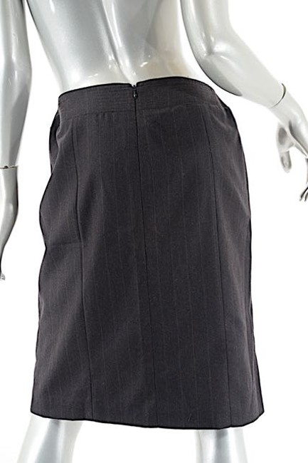 Chanel 2001a Wool/Cashmere Striped Skirt Brown Image 1