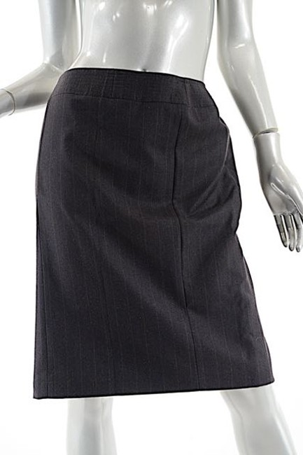 Chanel 2001a Wool/Cashmere Striped Skirt Brown Image 4