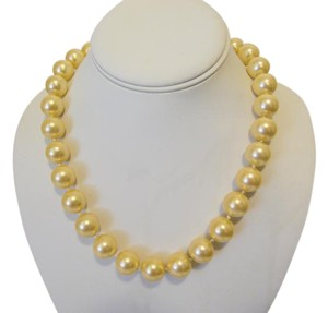 Pearlfection Pearlfection Faux Golden South Sea Pearl Necklace 18