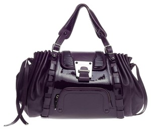 Versace Leather Satchel in Purple
