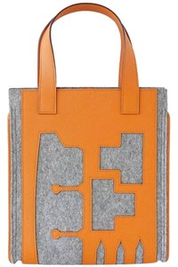 Hermès Hermes Petit-h Skeleton Feu Tote in Orange and Gray