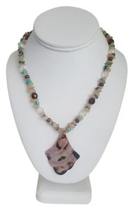 Other Sand and Turquoise Summer Necklace