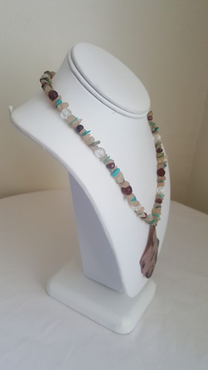 Other Sand and Turquoise Summer Necklace Image 1