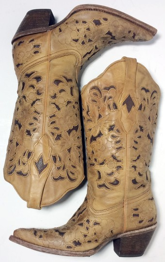 Corral Boots 1961 Cowgirl 6 Size 6 Brown Boots Image 4