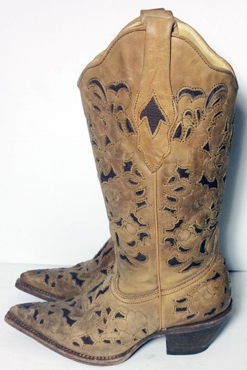 Corral Boots 1961 Cowgirl 6 Size 6 Brown Boots Image 5