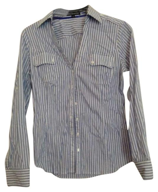 Preload https://img-static.tradesy.com/item/189219/express-blue-white-button-down-top-size-4-s-0-0-650-650.jpg